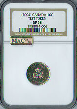 2004 CANADA TEST TOKEN 10 CENTS NGC MAC SP-68 PQ 2ND FINEST RARE SPOTLESS .
