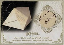 Harry Potter Memorable Moments Series 1 Prop Card Ci3 Letter From Sirius [25 In]