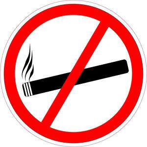 2 Aufkleber Rauchen verboten 20 cm Rauchverbot GLANZ TRANSPARENT Permanent