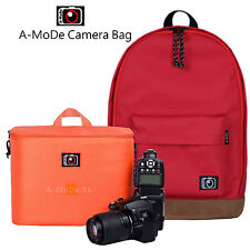 Camera Backpack Bag Case insert MILC For Nikon Sony Canon gopro Red