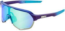 100% S2 Bike Sunglasses Matte Metallic Into The Fade Blue Topaz M/L Mirror Lens