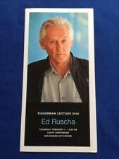 ED RUSCHA: MISCELLANEOUS EPHEMERA - 5 EXHIBITION ANNOUNCEMENTS