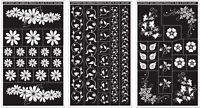 Armour Rub N Etch Designer Stencils 5 X 8 Floral Designs
