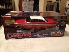 "1958 PLYMOUTH FURY ""CHRISTINE"" RED/WHITE 1/9996. ERTL AUTHENTICS  ""SUPER RARE"""