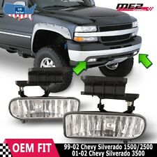For Chevy Silverado 99-02 Factory Bumper Replacement Fit Fog Lights Clear Lens