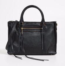 Rebecca Minkoff Regan Satchel Tote Bag Black Medium NEW