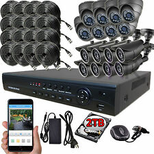 Sikker Standalone 16Ch 720P DVR Recorder Home Video Security Camera System 2TB