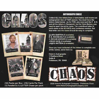 2020 HISTORIC AUTOGRAPHS CHAOS FACTORY SEALED BOX IN STOCK FREE SHIPPING