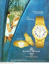PUBLICITE ADVERTISING 096  1980   Baume & Mercier montre femme Riviera