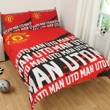 Official Manchester United F.C.Impact Double Duvet Cover Bedding Set