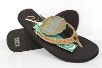 Cobian Women's Leucadia Flip Flop Sandals Size 7,8, & 9 Tan Black