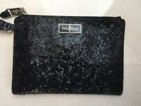 Authentic Cole Haan Black Glitter Wristlet Wallet