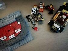 Lego Racing Bundle 5 x Mini Figures, Racing Car and Podium + extras