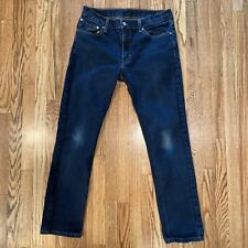 Levis 511 Slim Blue Wash Denim Jeans 33 x 30 Zip Fly
