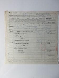 1913 REED MANUFACTURING COMPANY BILL OF LADEN railroad NEWARK NJ NEW JERSEY