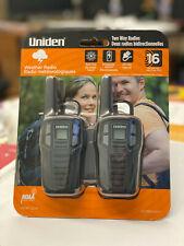 Uniden SX167-2CH,  FRS 2-Way Radio Walkie Talkies, Recharge 2-Pack Black