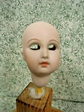 cp-1476 porcelain reproduction doll head - no imprint; no facial paint; 3""