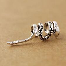1pc 925 Sterling Silver Retro Biker Snake Cuff Earring - Right Ear ONLY A1434