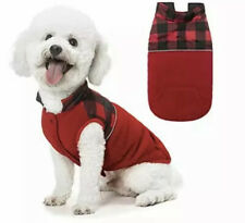 SCIROKKO Polar Fleece Dog Vest Winter Coat with Water-Proof Side - (S|Red)