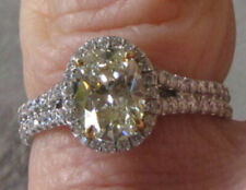 1.42ct LT YELLOW OVAL DIAMOND PLATINUM RING MICROSET by Legacy Designs EGL