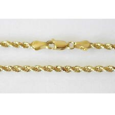 "14K Solid Yellow Gold Rope Chain 5.7 Grams W: 2.0 mm Length: 20"" (50 CM)-50"