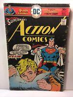 Bronze Age Action Comics No.457, Hilarious Meme Cover, Vg, 1976