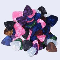 Multicolor Celluloid Acoustic Electric Guitar Pick Plectrums Thin 0.46mm