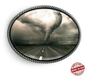 Twister Belt Buckle - Tornado Alley Handmade Silver Buckle - 624