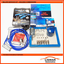 Major Service Kit for Holden V6 Commodore VT VX VU VY - Eagle leads with Shields