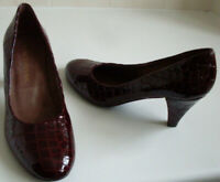 GRAY & OSBOURN Burgundy Red Pumps Heels Court Shoes Size EU 36.5 UK 3.5