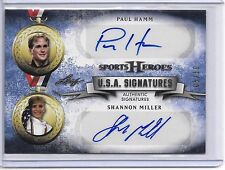 2013 Leaf Sports Heroes PAUL HAMM SHANNON MILLER USA SIGNATURES DUAL AUTO #5/10!