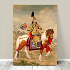 """Traditional Japanese SAMURAI Warrior on Horse Painting CANVAS PRINT 8x10"""" #80"""