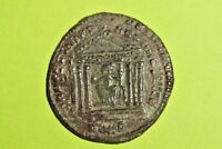 Maxentius 306 AD ancient ROMAN COIN temple old Rome goddess Roma vf gift antique