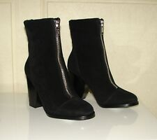 NIB Marc/Marc Jacobs sz 8 black suede shearling lined zip-front booties $448