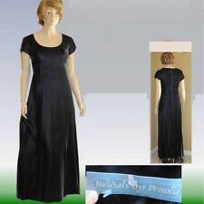 80s Empire Charcoal Velvet Gown Unworn Orig Tags Bust 36 Bridal Dress Custom