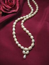 Collar verdaderos perlas de Agua Dulce Joya 8-9mm cultivo