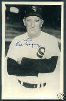 AL LOPEZ Signed Autographed Baseball Postcard HOF Chicago White Sox
