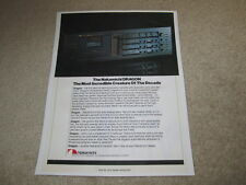 Nakamichi DRAGON Ad, 1984, Article, 1 pg, Article, RARE