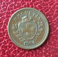 Suisse -  Rare et Très  Jolie monnaie de  1 Rappen 1904  B - millésime rare