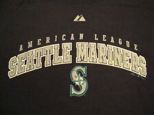 MLB Seattle Mariners Major League Baseball Fan Majestic Apparel Blue T Shirt XL