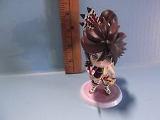 "#A731 Unknown Anime 3.5""in Brown Spiky Hair w/Sword Big Head Basara"