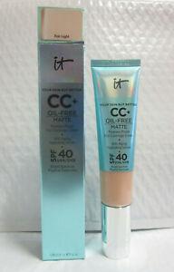 IT COSMETICS YOUR SKIN BUT BETTER CC+ OIL-FREE MATTE SPF 40  FAIR LIGHT 1.08 OZ