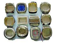 Lot 12 boitier boite case Diver watch montre vintage 70s 80 s chromé 1970  3
