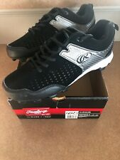 Rawlings Clubhouse BASEBALL Cleats SIZE 9 BLK and Silver-NEW!