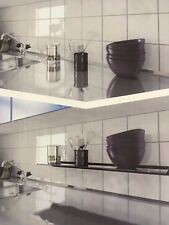 Universal Sleek & Stylish 100cm Floating Glass Shelf Black - 328546