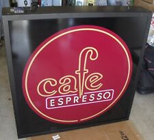 Cafe Espresso Big Huge Light Sign Box ( 36' x 38' ) Dual Side