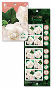 CANADA 2019 GARDENIA BOOKLET 10 MINT P STAMPS FLOWERS FLORA SPRING GARDEN NATURE