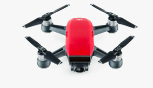 Dji Spark Fly More Combo - lava Red With Travel Case.