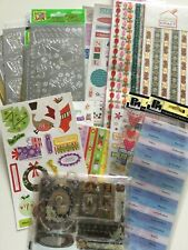 Embelishments, stickers, ribbon mixed lot all new cardmaking scrapbooking