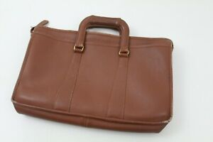 Vintage Coach Brown Leather Messenger Bag Soft Briefcase